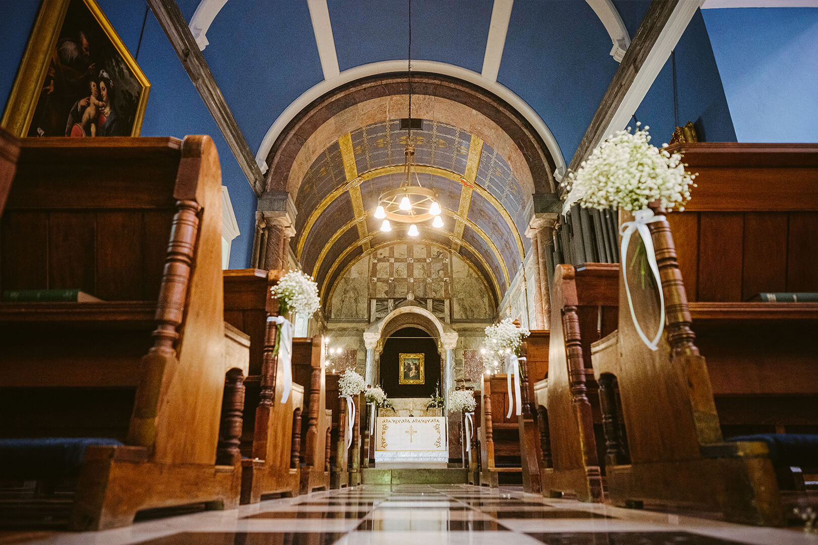 <p>Wynyard Hall is one of the few wedding venues that houses its own chapel. With stained glass windows and Italian marble walls and 19th century organ, it is the most romantic setting for religious weddings.</p>