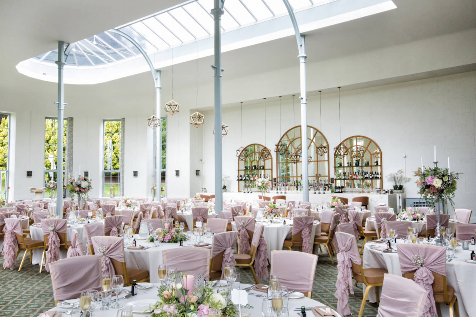 <p>Once filled with the scent of orange and lemon trees, the Conservatory now provides a light and contemporary space with pale green features, reflective of its history.</p>