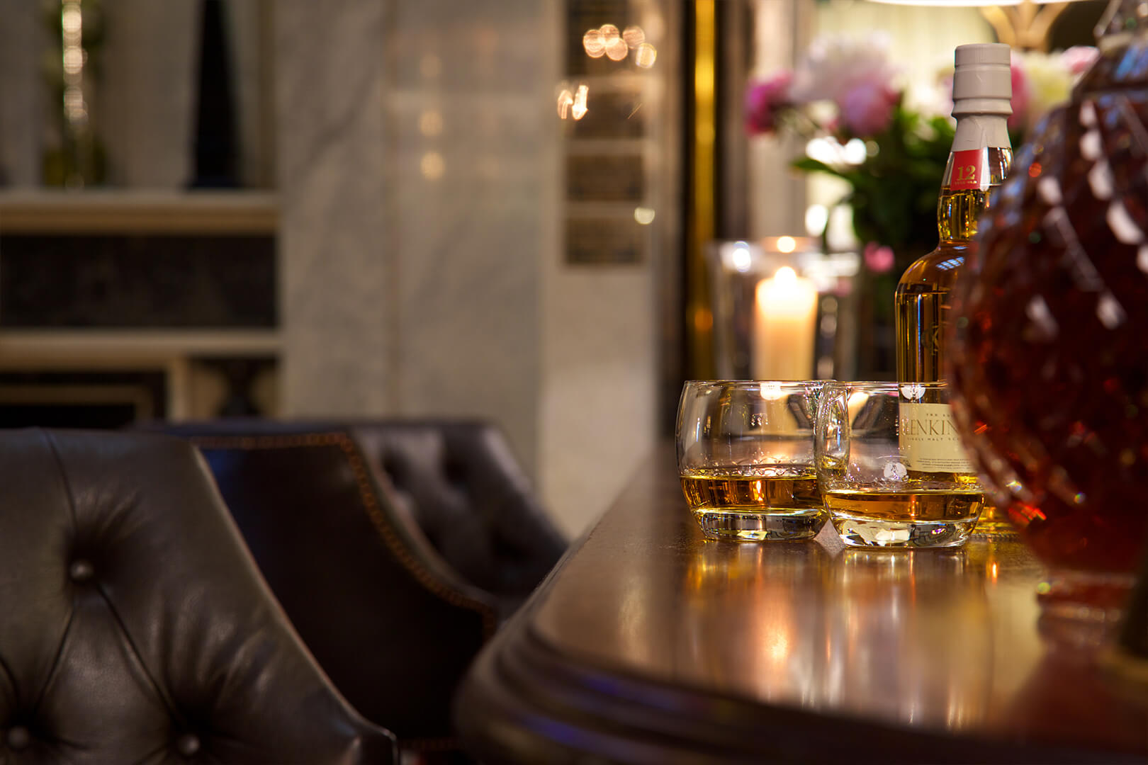 <p>The Wellington Bar is a private resident's bar for you and your guests serving our finest selection cocktails, wines, spirits and whiskies.</p>