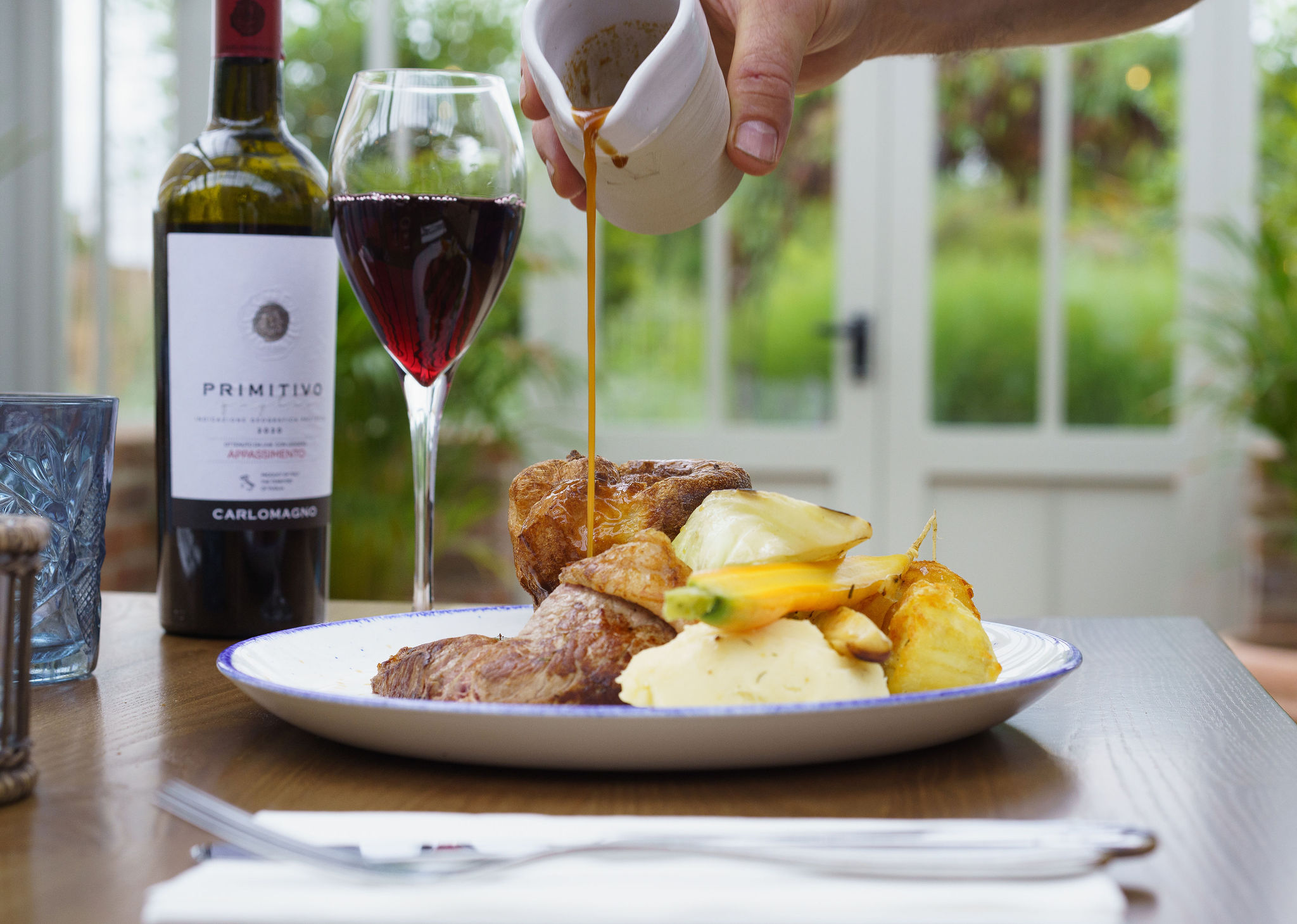 <p>A classic Sunday lunch finished with a walk through the gardens.<br /> Served 12 until 4pm.<br /> Click the image to see the menu.</p>